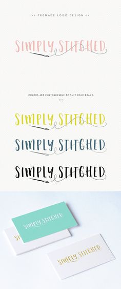 Crafting Sewing Logo – Quilt Maker Logo – Boutique Logo – Nadel und Faden – P … - Typografie und Handlettering Boutique Logo, Business Logo Design, Business Card Logo, Sewing Quotes, Sewing Patterns For Kids, Purse Patterns, Logo Design Inspiration, Design Ideas, Design Projects