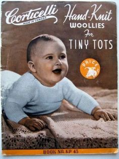 Vintage Baby Crochet Knitting Patterns Corticelli Hand Knit Woolies 4 Tiny Tots | eBay