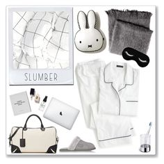 """""""s l u m b e r"""" by emyemoemu ❤ liked on Polyvore featuring From the Road, J.Crew, rag & bone, Australia Luxe Collective, blomus, Verso, Fig+Yarrow, sleepover, pajamas and lounge"""