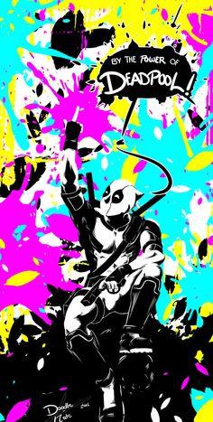 #Deadpool #Fan #Art. (CMYK Contest: Deadpool and the Masters of Marvel) By: Doodle-Nate. ÅWESOMENESS!!!™ ÅÅÅ+