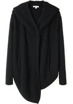 Helmut Lang /  Hooded Rib Cardigan