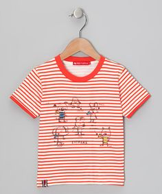 Red Stripe 'Extreme' Tee by Red Turtle & Mikko Kids