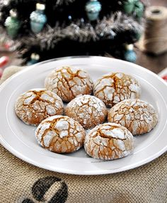 Spiced gingerbread olive oil crinkle cookies.  I made these 2013 Christmas season and they were an enormous success!