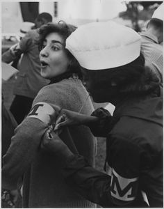 1963: Woman participating in the Civil Rights March on Washington D.C.
