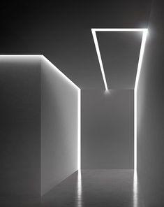 Linear built-in LED light bar MANHATTAN by PANZERI