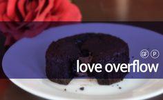 LOVE OVERFLOW LAVA CAKE #paleo #chocolate #valentinesday