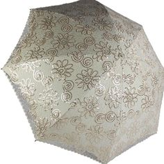 New Women Lady Folding Anti-UV Sun Rain Parasol Elegant Embroidery lace Umbrella #SunCity23744 #twofoldingParasolUmbrella