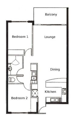 2 Bed Apartment Plan