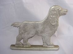 #English #Springer Spaniel Dog Aluminum Shelf Figurine Products Indoors or Out  $29.95 or make me an offer. Free Shipping