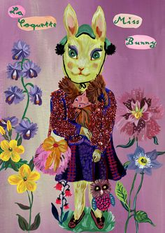 ~Nathalie Lete~ Bunny painting