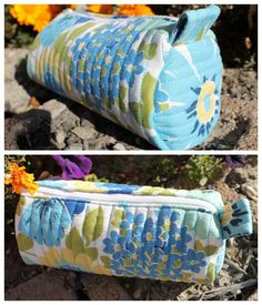 The Stitching Scientist: Quilted Barrel Pouch with Free Pattern