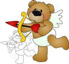 Cupids Arrow Valentine Bear: click to enlarge