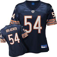 Reebok Chicago Bears Brian Urlacher Girl's Replica Team Color Jersey University Of New Mexico, National Football League, Chicago Bears, American Football, Reebok, Sports, Closet, Color, National Soccer League