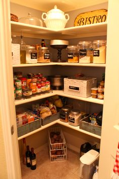 pantry, megandcalconner.blogspot.com I would love to have a pantry this big!!