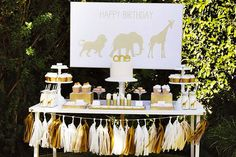 How fun is this dessert table?