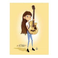 Aitana Disney Characters, Fictional Characters, Disney Princess, Drawings, Cute, Inspiration, Cartoon, Famous Singers, Artists