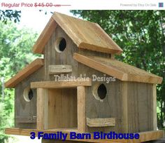 20% OFF TODAY Rustic Barn Birdhouse by TallahatchieDesigns on Etsy