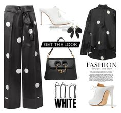 A fashion look from January 2018 featuring polka dot blouse, high waisted pants and leather shoes. Browse and shop related looks. Look Fashion, Womens Fashion, Hippy Chic, Trouser Outfits, Polka Dot Blouse, Get The Look, Boho, Style Me, Cute Outfits