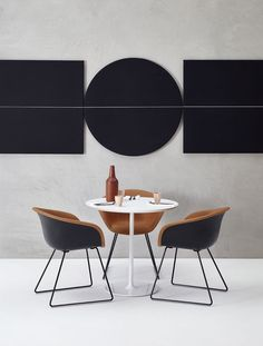 Arper / Duna 02 chair and Parentesit wall panel by lievore altherr molina