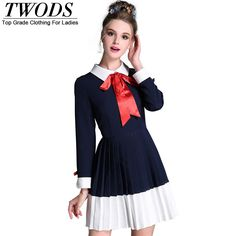 L- 5XL White Collar Autumn Mini Dress Bow Knot Detail Young Slim Fit Pleated Short Vestidos Oh just take a look at this! http://www.artifashion.net/product/l-5xl-white-collar-autumn-mini-dress-bow-knot-detail-young-slim-fit-pleated-short-vestidos/ #shop #beauty #Woman's fashion #Products