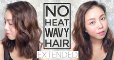 korean style waves curls hairstyle easy no heat braiding