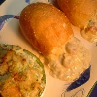 SEAFOOD STUFFED BELL PEPPERS / SEAFOOD STUFFED PISTOLETTES by Susan K. Morris