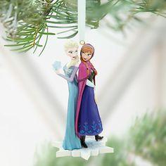 Anna and Elsa Ornament