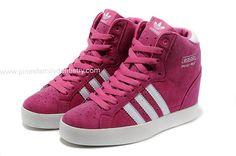Adidas Entrega Rápida - Adidas trébol Mujeres Sky Hi Cuñas Rosa Blanco MN90269