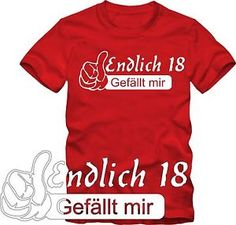 Geburtstags  Geschenk T-Shirt   Endlich 18! Sweatshirts, Mens Tops, Women, Ebay, Ale, Happy Birthday, Fashion, Faces, Gifts For Birthday