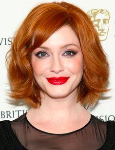 Christina Hendrick's firey red hair