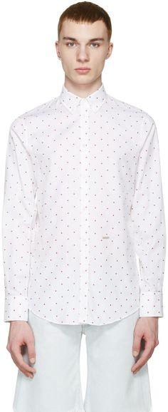 Dsquared2 - White Maple Leaf Shirt