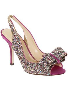 Pink and glitter heels