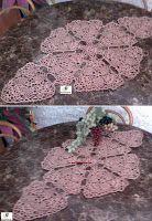 Arte em Crochet: Centro de mesa em crochet com triângulos