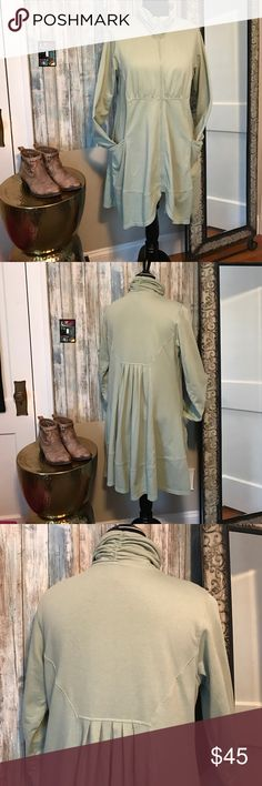 """Made in the USA! Mid length jacket Green fun jacket!  Made in the USA!  I like clothes that are """"different"""". This is so cute and comfy! COLOR ME COTTON Tops"""