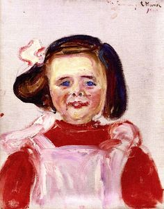 Erdmute Esche with Doll Edvard Munch - 1905