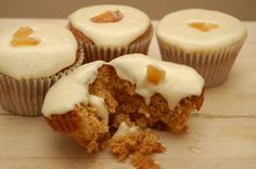 spicy quadruple ginger cupcakes with ginger cream cheese icing