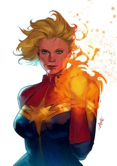 Captain Marvel by Axeeeee