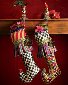 "Shop for MacKenzie-Childs ""Diamond Jester"" Christmas Stocking by Mackenzie Childs at ShopStyle. Now for Sold Out."
