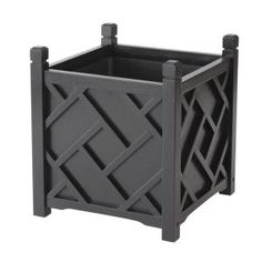 DMC 14 in. Square Black Chippendale Planter - Model # 70207 at The Home Depot