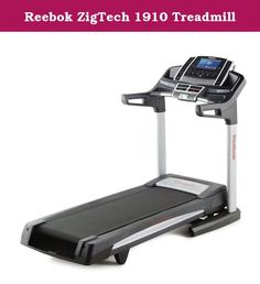 "Reebok ZigTech 1910 Treadmill. Reebok ZigTech 1410 Treadmill Repower your training regime with the Reebok ZigTech 1910 Treadmill. Featuring a 10"" Full-Color Display, a web browser Powered by Android, the ZigTech 1910 will keep you motivated to get the results you want fast. Plus, HD video workouts adjust the incline and decline to match the terrain of Hana and Haleakala Hawaii as they inspire you with incredible views on the console. The Reebok ZigTech 1910 Treadmill Reebok ZigTech 1910..."