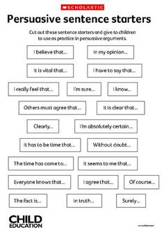 Persuasive sentence starters, say a little, fade away, let your teacher finish and think ur brilliant