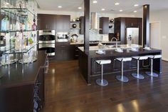 AMAZING kitchen @ Tribeca Model at One Loudoun #kitchen #kitchendesign #contemporary #modern #wood