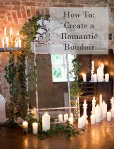 The French Bedroom Company Blog. How to: Create a Romantic Boudoir with fairy lights, layers, beautiful french beds and more. Interior designer tips on romance for your home and boudoir. Candle lit mirror and bedroom with beautiful french mirror