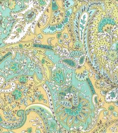 Keepsake Calico Fabric - Pacifica Seaside Paisley Design, Paisley Pattern, Paisley Print, Textiles, Textile Prints, Paisley Coloring Pages, Textures Patterns, Print Patterns, Arabian Pattern