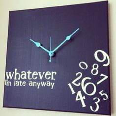 Diy rustic wall clock diy projects pinterest best for Whatever clock diy
