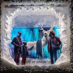 "HACKETT, Regent Street, London, UK, ""Let It Snow"",creative by Harlequin Design, pinned by Ton van der Veer"