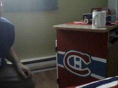 Meuble des Canadiens - Peinture acrylique