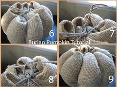Fall Project-Burlap Pumpkin Tutorial