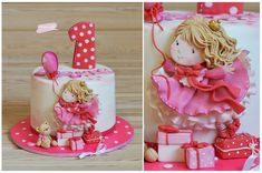 Cake Topper Tutorial, Cake Toppers, Baby Birthday, Birthday Cake, Baby Girl Cakes, Bear Theme, Cake Art, Cake Cookies, Amazing Cakes