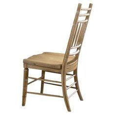 """Perfect pulled up to your desk or dining table, this classic side chair features a distressed oatmeal finish and turned detailing.  Product: Side chairConstruction Material: Poplar wood veneers and hardwood solidsColor: OatmealFeatures: Part of the Paula Deen Home CollectionDistressed finishTurned detailing Dimensions: 42"""" H x 22"""" W x 23"""" D"""